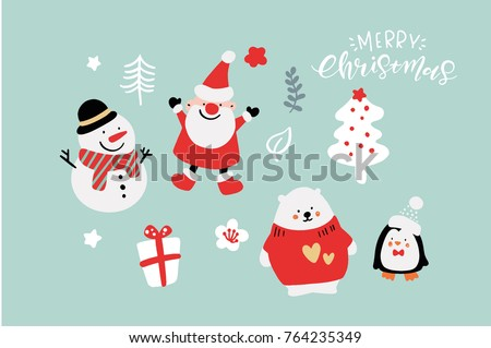 vector cute christmas graphics graphic poster with hand drawn elements holiday backgrounds greeting