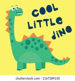 vector, cute dinosaur illustration