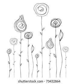 vector cute doodle summer background illustration
