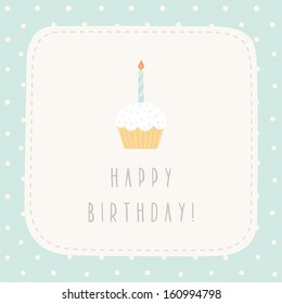Vector cute gift card Happy birthday