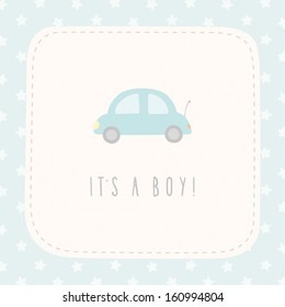 Vector cute greeting card It's a boy