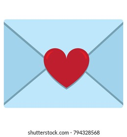 Vector cute kawaii  letter envelope  colorful isolated