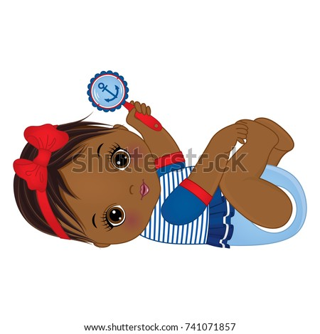 Vector Cute Little African American Baby Stock Vector Royalty Free