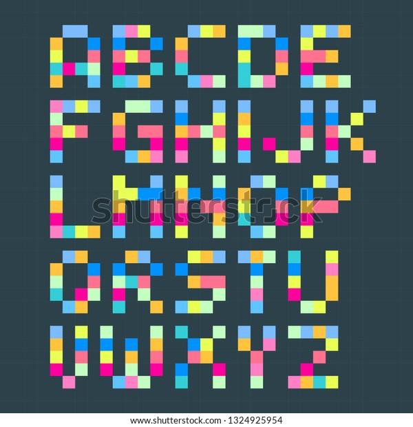 Cute Simple Pixel Art Grid