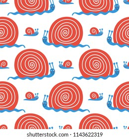 Vector cute seamless pattern with funny nails