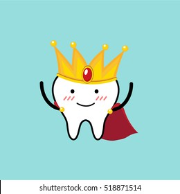 Vector of Cute Tooth dress as King