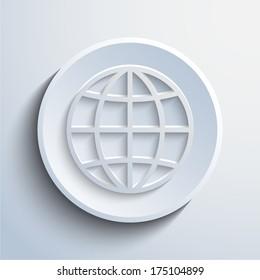 Vector cyan globe icon