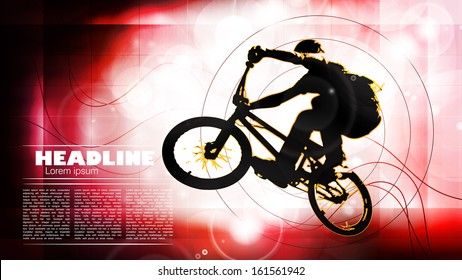 Vector of cyclist