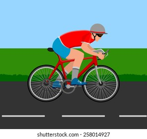 Vector of a cyclist