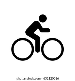 Vector Cyclist icon. Bike. Bicycle.