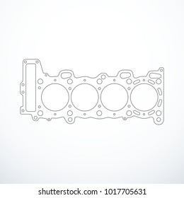 Vector cylinder head gasket isolated