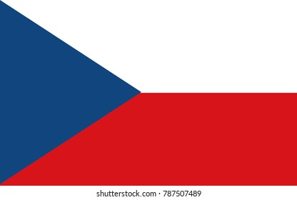 Vector Czech Republic flag, Czech Republic flag illustration, Czech Republic flag picture, Czech Republic flag image