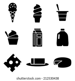 Vector Dairy Icons Set