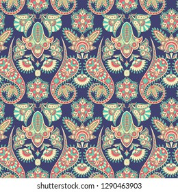 Vector damask background. Paisley seamless pattern