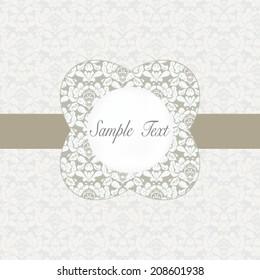 Vector damask  invitation card,background