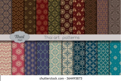 vector damask pattern background. thai style, swatches included in file, for your convenient use.