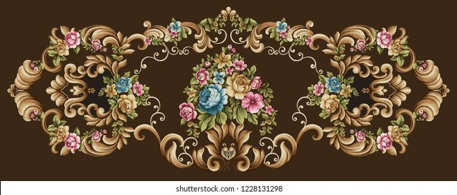 Vector damask pattern element, royal victorian,texture for wallpapers,paper