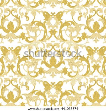 Vector Damask Pattern Ornament Exquisite Baroque Stock Vector