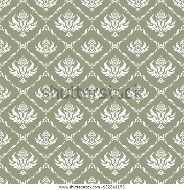 Vector damask seamless pattern. Classical luxury old fashioned damask ornament, royal victorian seamless texture for fabric, textile, wrapping. Exquisite baroque template in white and neutral colors.