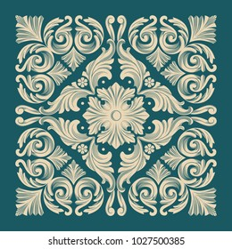 Vector damask seamless pattern element. Royal baroque seamless texture for wallpapers, textile, wrapping.