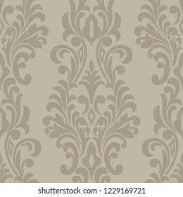 Vector Damask Seamless Pattern Element. Classical Luxury Old Fashioned  Damask Ornament, Royal Victorian Seamless