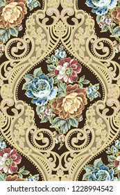 Vector damask seamless pattern element.lassical luxury old fashioned damask ornament, royal victorian seamless texture for wallpapers, textile, wrapping. Exquisite floral baroque template.iran