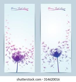 vector dandelion flower background for banner