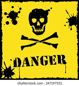 Vector danger icon yellow and black