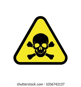 Toxic symbol images stock photos vectors shutterstock vector danger sign with skull symbol altavistaventures Images