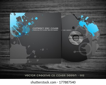 vector dark abstract style cd cover design