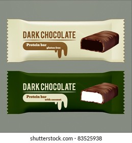 vector dark chocolate wrappers
