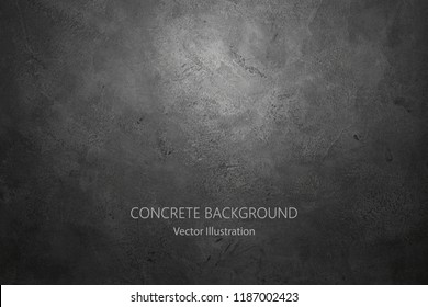 Vector dark concrete texture. Stone wall background.