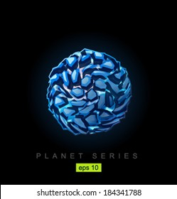 Vector dark ice planet