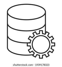 Vector Database Outline Icon Design