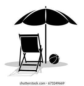 Royalty Free Beach Ball Under Umbrella Stock Images Photos