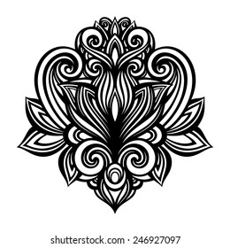 Vector Deco Abstract Symmetric Element. Design elements