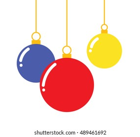 Vector of decorative Christmas balls