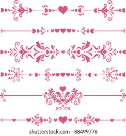 Vector decorative design elements and page decor. Happy valentine day decor