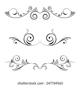 Vector decorative elements, borders and page decoration.