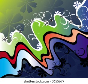 vector decorative floral composition