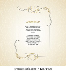 Elegant Corporate Invitation Card Background Images Stock