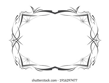 Vector decorative frame. Luxury Invitation, Pinstripes Frame, place for text.