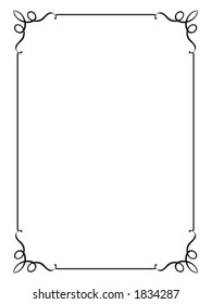 Vector decorative frame. This is a vector image - you can simply edit colors and shapes.