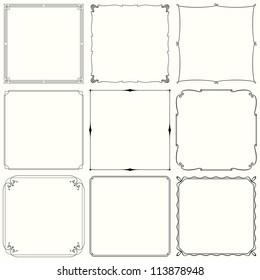 Vector decorative frames (set 33)