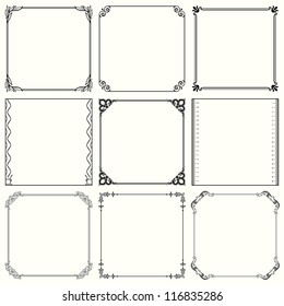 Vector decorative frames (set 37)
