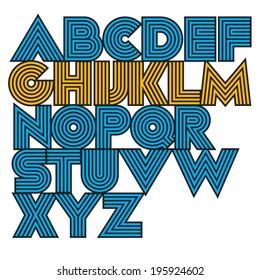 Vector decorative geometric font.