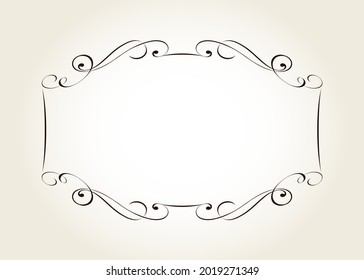 Vector decorative horizontal frame .Place or textf.