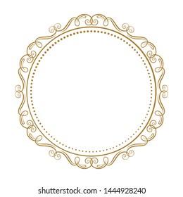 Vector decorative vintage frame on a white background.