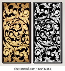 Vector decorative vintage panel