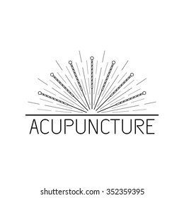 Vector dedicated to traditional Chinese medicine, acupuncture. a method of stimulation of certain points on the body with needles. Alternative medicine